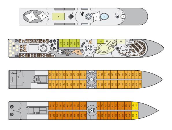 A-ROSA - A-ROSA RIVA Flusskreuzfahrt, Flusskreuzfahrtschiff